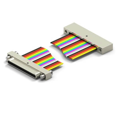 NML31-1P02/NML31-1S07-30F6-18.0-S01 |  NanoD Wired Single Row - Double Ended - Metal Shell